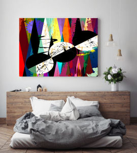 Modern Colorful Abstract Canvas Prints pictures & photos