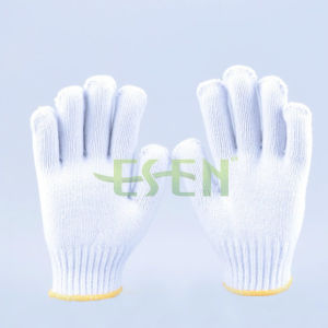 Top Quality Cotton Glove /Soft White Cotton Gloves / Construction Work Gloves/ Garden Gloves pictures & photos