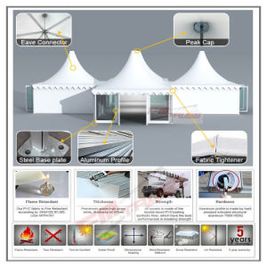 8X8m/ 9X9m/ 10X10m Outdoor Pagoda Tent for Party and Wedding Event pictures & photos
