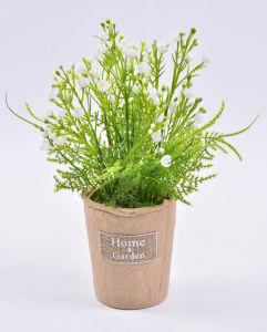Vivid Faux Gypsophila in Paper Pot with Label for Decoration & Gifts pictures & photos
