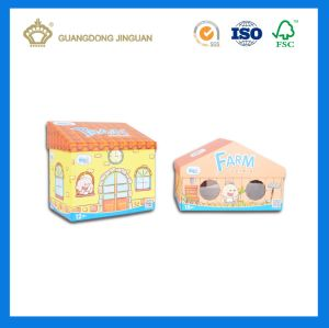 Eco Custom Paper Cardboard Christmas House Shape Gift Box (OEM printing) pictures & photos