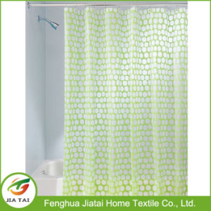 Lime Green Interdesign Honeycomb PVC-Free PEVA Shower Curtain