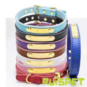 Personalized PU Leather Dog Collar Pet Leash pictures & photos
