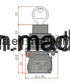 22mm Push Button Switch with Key pictures & photos