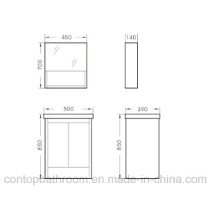 Modern Home Solid Wood Bathroom Cabinet 036 pictures & photos