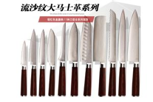 Wholesale High Quality Stainless Steel Chinese Chef Knife with Acrylic Holder pictures & photos