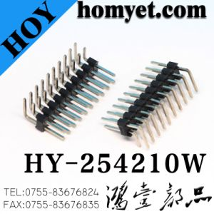 2.54mm Double Row Vertical Right Angle Male Pin Header pictures & photos