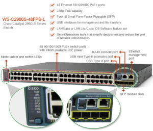 New Cisco 48 Port Gige Poe Network Managed Switch (WS-C2960S-48FPS-L) pictures & photos