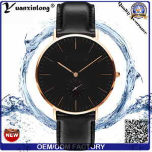 Yxl-477 Fashion Dw Style Couple Waterproof Watch Men′s Miyota Japanese Movement Stainless Steel Case Genuine Leather Band Wrist Watch Men Women pictures & photos