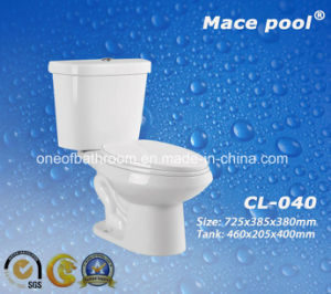 Economic Water Closet Siphonic Two Piece Water Closet (CL-040) pictures & photos