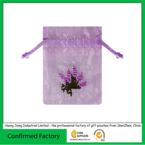 Custom Printed Jewelry Organza Drawstring Gift Bag pictures & photos