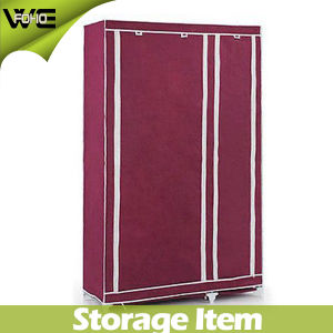 Cheap Foldable Storage Clothes Cabinet Fabric Wardrobe Modern Home Furniture pictures & photos