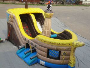 Commercial Inflatable Water Pirate Ship Slide pictures & photos
