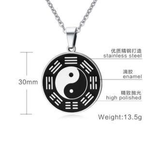 Taoism Jewelry Stainless Steel Eight Trigrams Necklace Pendant pictures & photos
