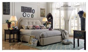 Comfortable American Style Bed for Bedroom Furniture pictures & photos