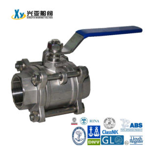 Carbon Steel 3PC Internal Thread Ball Valve pictures & photos