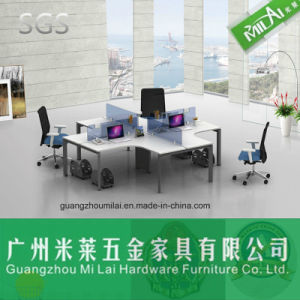 Modern Design Open Modular Office Wooden Furniture with Metal Table Leg pictures & photos