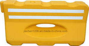Jiachen Factory Yellow Blow Molded Plastic Traffic Barrier pictures & photos