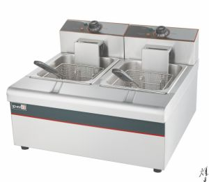 Double Commercial Electric Deep Potato Chips Fryer pictures & photos