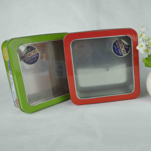 Rectangle Shaped Metal Biscuit Tin Packaging for Food Packaging pictures & photos