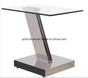 Gold Corner Table with Tempered Glass Hot Sale pictures & photos