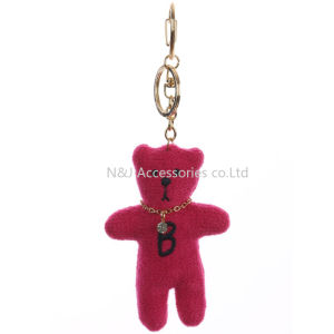 Fashion Key Chain Plush Bear Bag Accessory Bunny Tush Woven Pave Crystal Stone for Women Gift pictures & photos