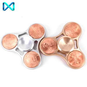 EDC Adhd Focus Toy Copper Fingertip Gyro Metal Fidget Hand Spinner pictures & photos