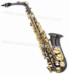 Hot Sell/Alto Saxophone /Pearl Black Body Saxophone / Woodwinds /Cessprin Music (CPAS004) pictures & photos