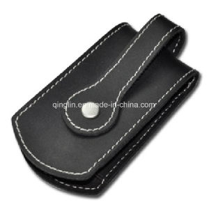 Custom Genuine Leather Bold Leather Line Design Key Bag (QL-YSB-0005) pictures & photos