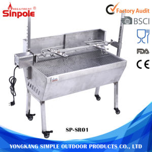Stainless Steel 60kg Barbeque Charcoal Pig Spit Rotisserie BBQ Grill pictures & photos