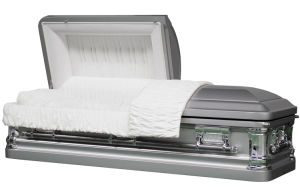 Butler Silver Brush Metal Casket for Us Market Funeral Coffin pictures & photos