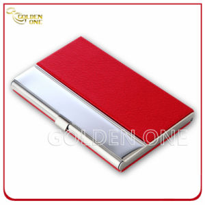 Office Supply Creative PU Leather Business Card Holder pictures & photos