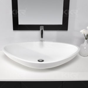 Hotel Project Solid Surface Bathroom Wash Basin pictures & photos