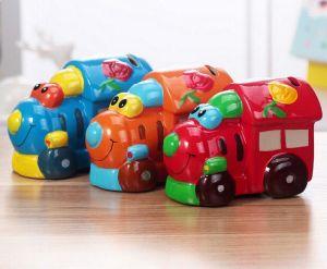 Customized Handmade Color Glazed Decorative Ceramic Bus Money Box pictures & photos