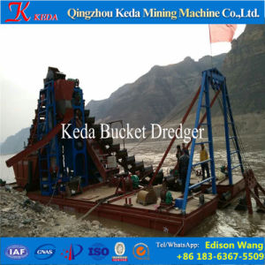 River Gold Mining Chain Bucket Dredger for Sale pictures & photos