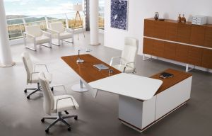 White Color Solid Wooden Table Leg MDF Office Furniture (HX-AD810) pictures & photos