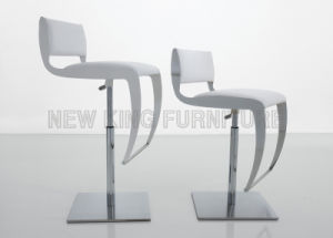 Modern Elegant White Color Bar Chair PU Leather Stainless Leg (NK-DCA034-1) pictures & photos