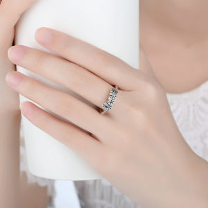 High Quality 925 Sterling Silver Signature of Love Clear CZ Ring pictures & photos