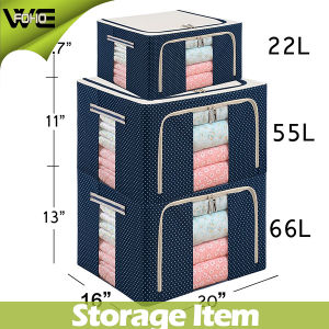 Household Essentials Large Fabric Storage Bins Boxes Patterned pictures & photos