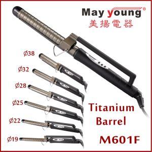Wholesale X Style Clamp 6 Sizes Magic Titanium Hair Curling Iron Hair Curler pictures & photos