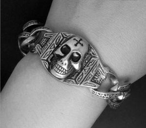 Punk Skull Men Bracelets Star Fashion Titanium Steel Jewelry pictures & photos