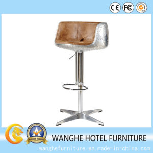 Hotel Lobby Cafe Furniture Wholesale Leather Bar Stool pictures & photos