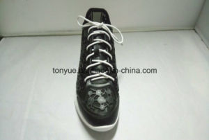 Lady Kpu Rubber with Diamond and Mesh Lining Soft Rubber Outsole Breathable Sneaker pictures & photos