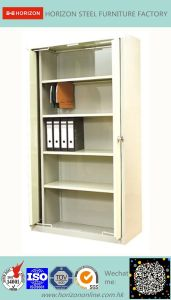 Steel High Storage Metal Office Furniture with Two Swinging Steel Doors and Two Drawers/Filing Cabinet for Italy Market pictures & photos