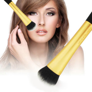 Custom 1PCS Gold Professional Synthetic Foundation Powder Makeup Brush