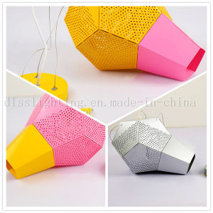 Modern Creative Design Aluminum Pink&Yellow Pendant Lighting for Coffee Shop Chandelier pictures & photos
