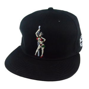 Custom 3D Embroidery Black PU Sports Snapback Cap Man Hat pictures & photos
