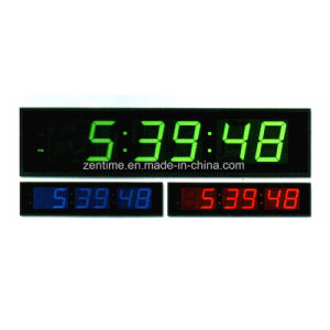 LED Digital Electronic 12 Hour Format Time Wall Clock pictures & photos