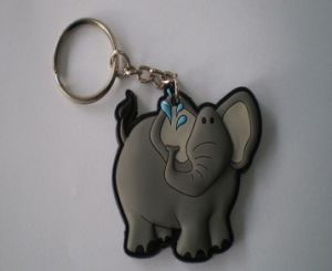 Wholesale 2D Custom Shaped Soft Rubber PVC Keychain with Logo Printing pictures & photos