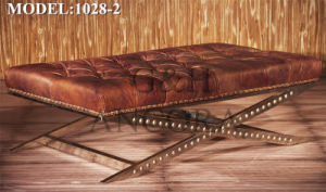 Genuine Leather Ottoman pictures & photos